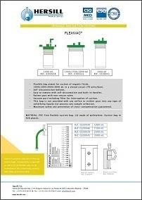 Flexivac disposable suction bags